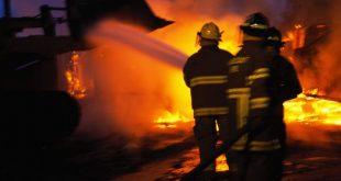 Incendiu la o casă din Brazi