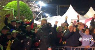 Bucurie alaturi de suporteri România – Ungaria handbal feminin [video]