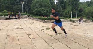 Antrenament inedit pentru Tarzan din rugbyul românesc: sute de lovituri de ciocan într-un cauciuc!